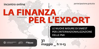 La Finanza per l'Export (31/05/2021 ore 11.00)