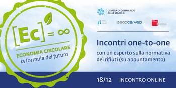 """""""Normativa sui rifiuti: Incontri One to One con l'esperto ambientale Ecocerved."""" 18 dicembre 2020"""
