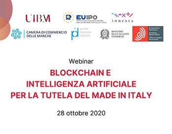 Webinar: Blockchain e intelligenza artificiale per la tutela del Made in Italy, 28/10/2020