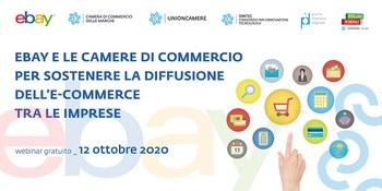 """Webinar """"Ebay e le Camere di Commercio per la diffusione dell'e-commerce"""" (12/10/20)"""